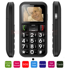 Czech French,Spanish,Italy Russian Ukrainian Portuguese menu Voice Record SOS Torch senior mobile phone for old people W60 P009(China (Mainland))