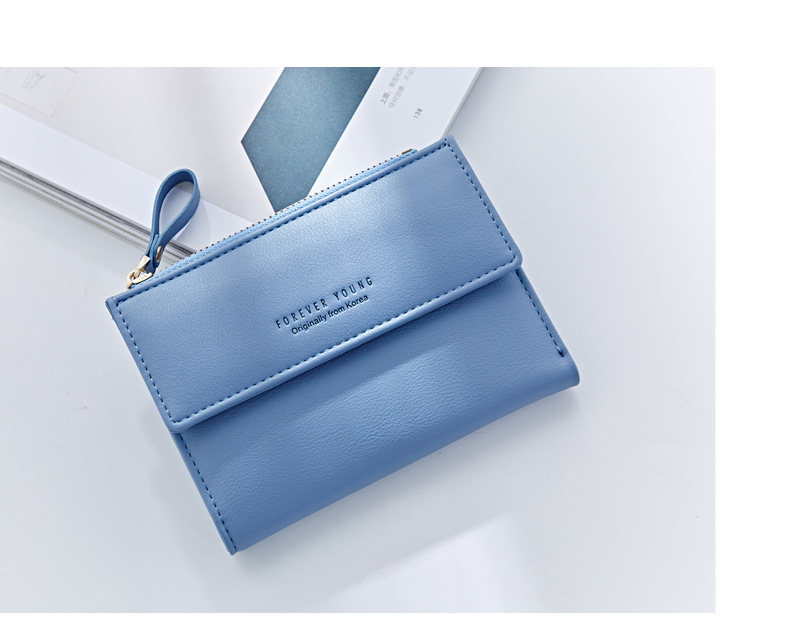 HTB1x79MQFXXXXX.XpXXq6xXFXXXT - WEICHEN Hasp & Zipper Short Standard Wallet, Hot Fashion PU Leather Solid Coin Card Purse Wallets For Women Lady Clutch Carteras