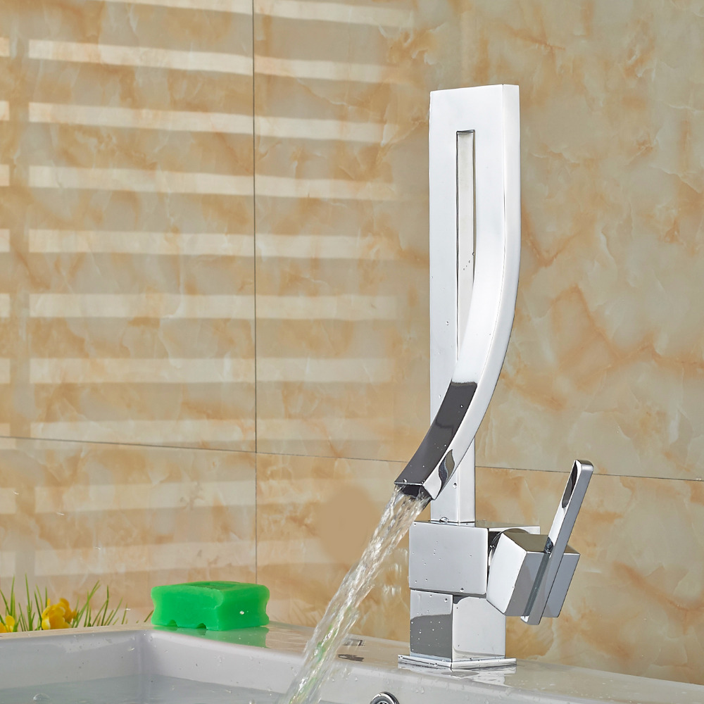 Unique Bathroom Faucets : Basin Faucet Tap Deck Mounted Brass Hot and Cold Bathroom Faucet ...