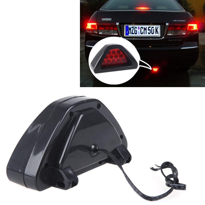 Universal F1 Style 12 LED Lamp Car Brake Light Car Reverse light Lamp Vehicle Warning Strobe Flash Light DC12V Red(China (Mainland))