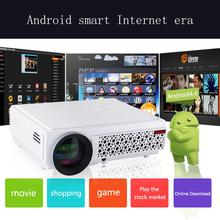 LED96+ , LED96+wifi 4.4 Andriod 2500Lumens 1280*800 Full HD 1080p 3D LED Home Projector Support HDMI USB TV(China (Mainland))