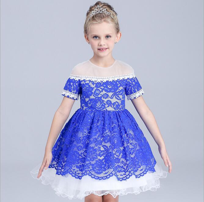 wholesale elegant children formal dress vintage children girl shoulderless lace gown dress toddler formal red xmas costume(China (Mainland))