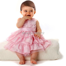 Infant Vestido 2015new summer dress lace casual dress lovely little party dress baby girl flower dress children clothes 10#(China (Mainland))