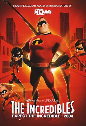 24X36 INCH / ART SILK POSTER / THE INCREDIBLES - PIXAR MOVIE POSTER / PRINT (ADVANCE)(China (Mainland))
