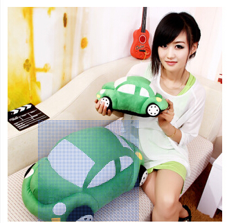 Plush toy car pillow cushion for leaning on of plush dolls beetles large car toys(China (Mainland))