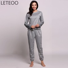Buy LETEOO Spring Sporting Track Suit Women Long Sleeve Sweatshirt Top Pants Two 2 Piece Clothing Set Female Outfit Tracksuit L3 for $17.83 in AliExpress store