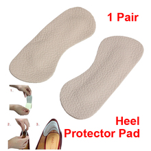 1 Pair Foot Care Cushion Insole High Heel Back-feet Shoes Pads  Comfortable Leather Pad Foot Protector Sticker Pads