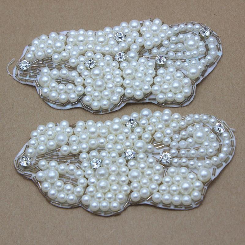 Pearl Rhinestone Bow Flatback baby Hair Accessories Making Cell Phone Deco wedding Bridesmaid Bridal Jewellery 12pcs/lot(China (Mainland))