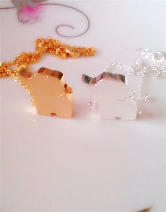 Valentine Day Gift Free Shipping chunky Elephant necklace rose gold women accessories 2015 fashion jewelry(China (Mainland))