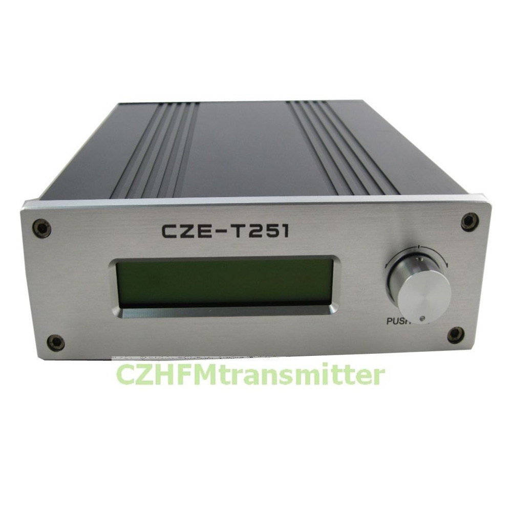 FMUSER NEW CZH CZE-T251 0-25W power adjustable Professional FM stereo broadcast transmitter +car antenna(China (Mainland))