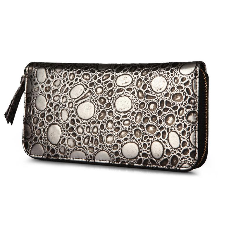 cowhide clutch purse