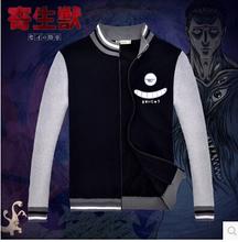 New Japanese anime KISEIJU eye  Cosplay Costume jacket  cotton hoodie sweater baseball jacket(China (Mainland))