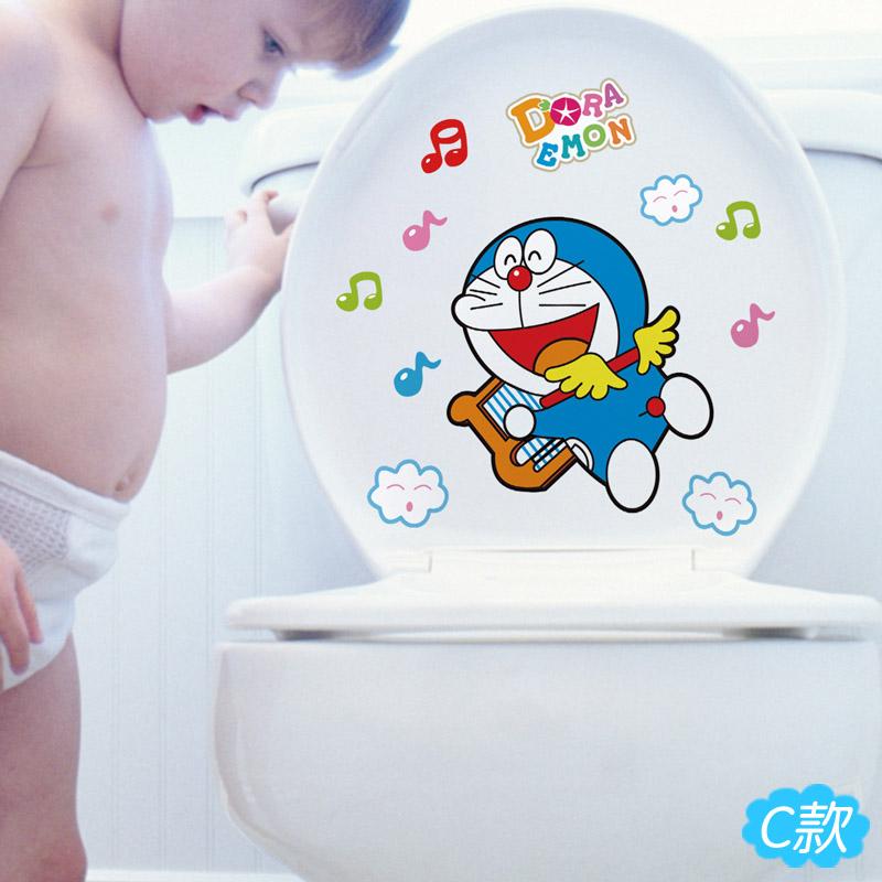 Cat Personality Children sticker Toilet toilet wall-sticker waterproof stickers creative decorative toilet cover toilet stickers(China (Mainland))