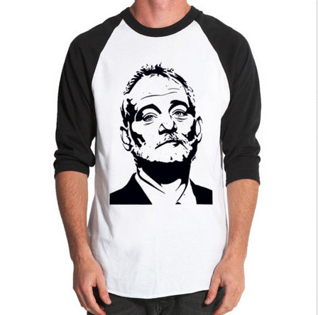 Bill Murray Baseball Jersey t-shirt Long Sleeve Raglan Tee Custom harajuku Men's Tshirt camisetas hombre Hip Hop T-Shirt(China (Mainland))