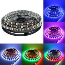 Buy WS2812 LED Strip Light 5050 RGB dream color Pixel Digital tape 5M DC5V 60 led/M Flexible Non-waterproof Black PCB strips for $20.18 in AliExpress store