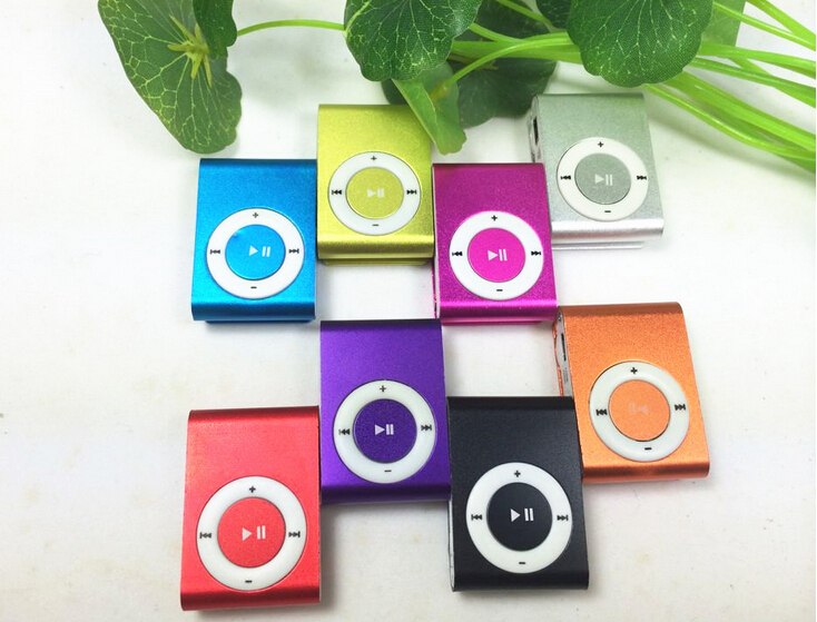 Free shipping New Sport Mini Clip Mp3 Player Portable Music Player With Micro TF Card Slot (MP3 ONLY)Can Use As USB Flash Dish(China (Mainland))