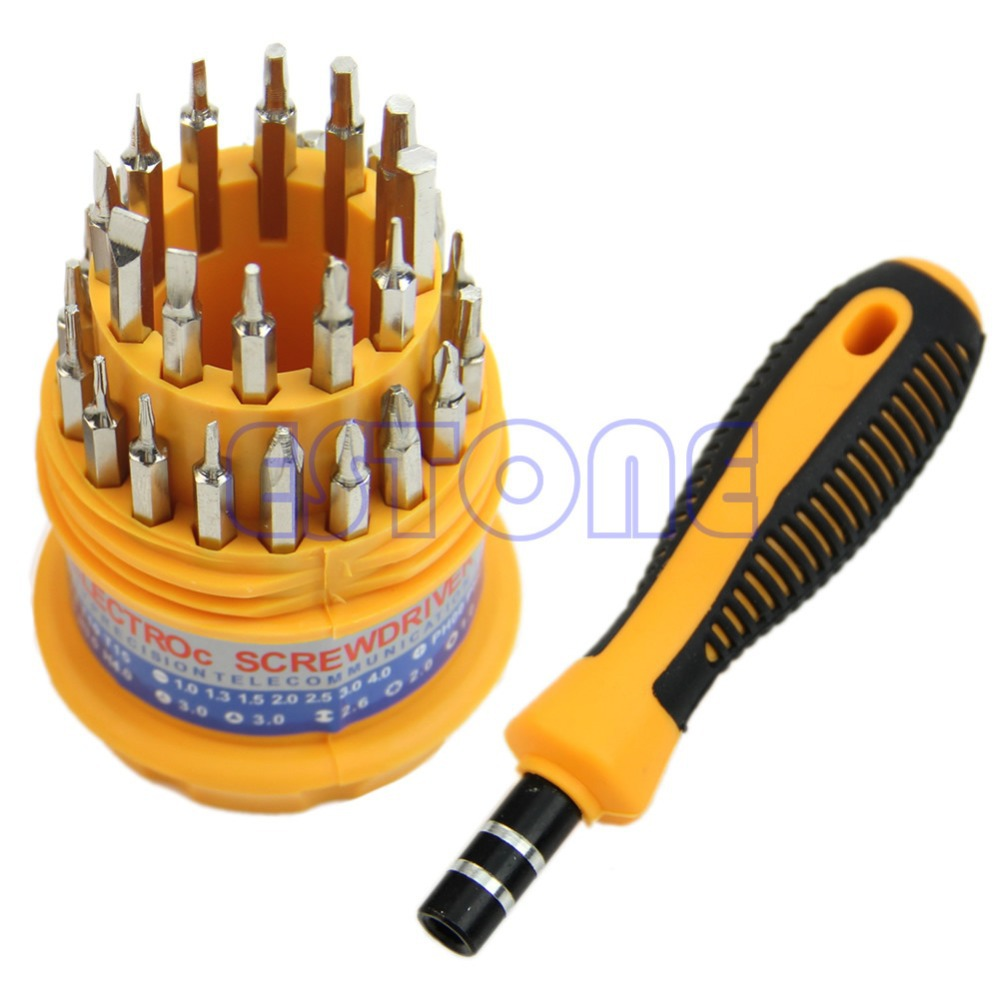 Y142 Free Shipping Delicate 31 In 1 Precision Handle Screwdriver Set Mobile Phone Repair Kit Tool<br><br>Aliexpress