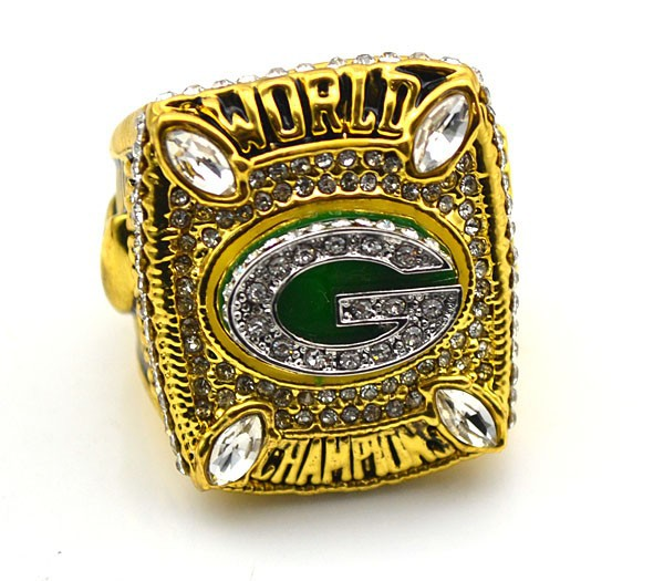 Go Packers Series Bottom Price for Replica Super Bowl 2010 Green Bay Packers Championship Ring for Fans(China (Mainland))