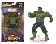 7 ''Marvel Spiderman Hulk Homem de Ferro Capitão América Vingadores Thanos Infinito Guerra Visão Falcon Action Figure Brinquedos Bonecas(China)