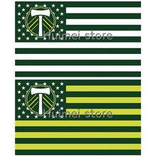 PORTLAND TIMBERS stripe Banner Flag 3x5(China (Mainland))