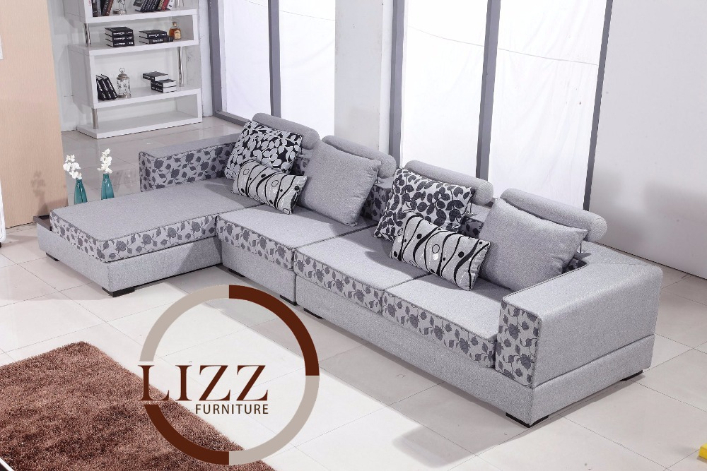 Lizz high quality fabric sofa living room sofa modern for Sofa en l liquidation