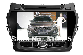 Free Shipping 8 Inch Car Radio Audio DVD Player For HYUNDAI iX45 SANTA FE 2013 GPS Retail/PC