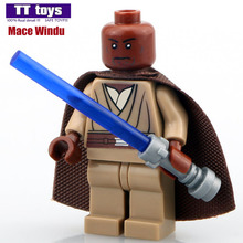 Windu Single Sale Star War Minifigures Mace Building Blocks No Logo Base MG Custom Made Bricks Classic Toys Best Children Gift(China (Mainland))