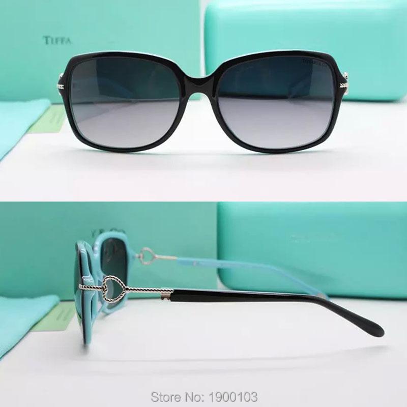 2015 Best Quality Luxury Brand Women Square Sunglasses Plastic Heart Chain Decor TF4101 Fashion Sun Glasses Oculos de sol(China (Mainland))