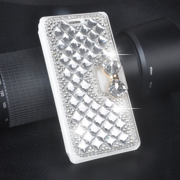 Luxury Bling Rhinestone Diamond for Ipod Touch 4/Touch 5 wallet flip phone leather case cover(China (Mainland))