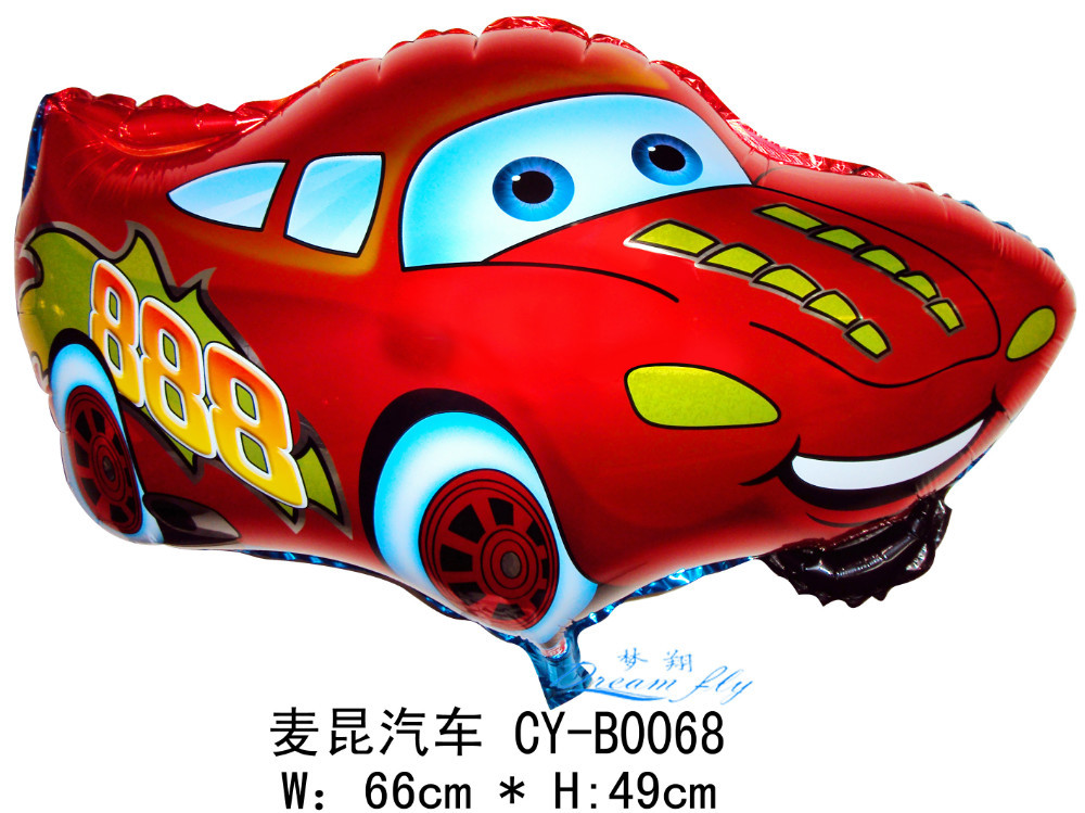 Free shipping 50pcs per lot car design foil balloon children toy birthday gift(China (Mainland))