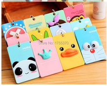Cute Cartoon Animals Totoro 3D Credit ID Card Holder Bus Card Case Organizer With Keychain As Gift(China (Mainland))