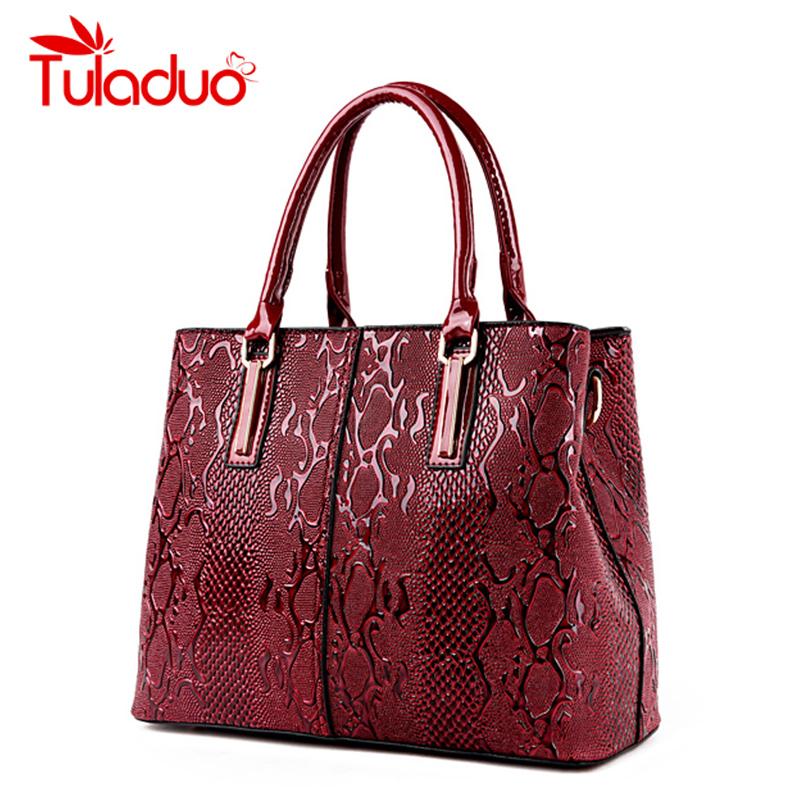 TuLaduo Women Genuine Leather Bag Snake Pattern High Quality Bags Bride Tote Bag Women Wedding Handbag Brand Designer Tote Sac(China (Mainland))