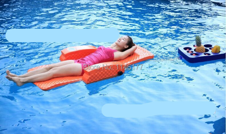 Swimming Orange Bean Bag Bed Water fun outdoor hot spring water aqua loungers folding bed recliner chair factory(China (Mainland))