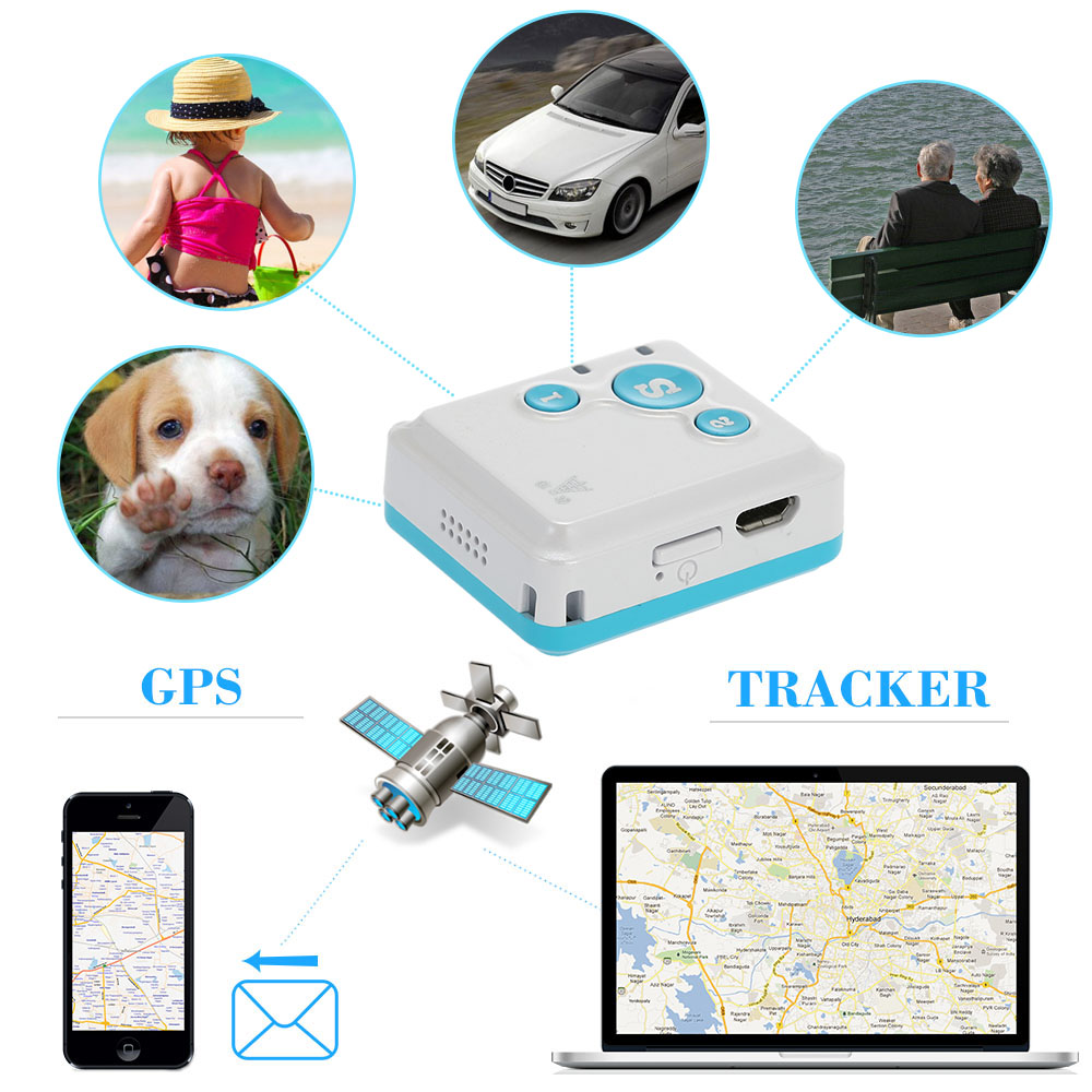 gps tracker mini GPRS GSM Portable Real-Time GPS Tracker Mini SOS Communicator for Kids Child Elderly Personal tracker Device(China (Mainland))