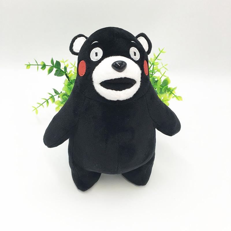 Cute Kumamon Bear Plush Toy Japan Mascot Cartoon Character Black Kawaii Bear Plush Doll Kumamon Stuffed Animal Toy Children Gift(China (Mainland))