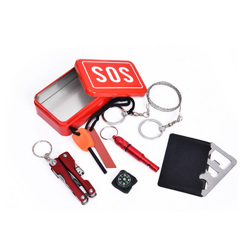 SOS Emergency Equipment Tool kit First Aid Box Car emergency Supplies Outdoor Survival Gear Utility Herramientas(China (Mainland))