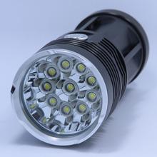 New 20000 lumens High Power 10T6 LED handlamp 10 x CREE XM-L T6 LED Flashlight Torch Lamp Light Lantern For Hunting Camping(China (Mainland))
