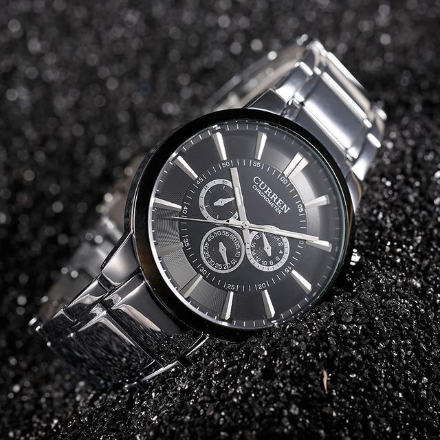 Zegarek męski CURREN elegancki klasyczny 3 ozdobne tarcze kolory