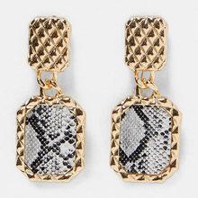 Miwens Za 32 Designs Metal Resin Crystal Drop Earring Women Geometric Boho Trendy Dangle Earring Wholesale Handmade Jewelry A271(China)