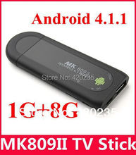 MK809 II Android 4.4 Mini PC TV Dongle Rockchip RK3066 1.2GHz Cortex A9 Dual core 1GB RAM 8GB Bluetooth MK809II 3D TV Box 10pc(China (Mainland))