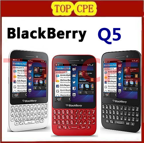 Hot sales Original Refurbished Q5 Blackberry mobile phone 2G Ram+8G Rom 5.0MP Camera Blackberry OS Smartphone QWERTY Keyboard(China (Mainland))