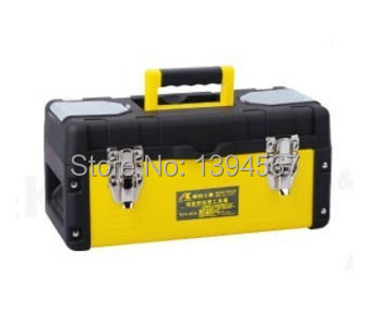 Top Quality 19inch Iron/Plastic Toolbox Double Layer Multi-function Tool Box W/Removable Tote Tray Storage Orgnizer Hardware Kit(China (Mainland))