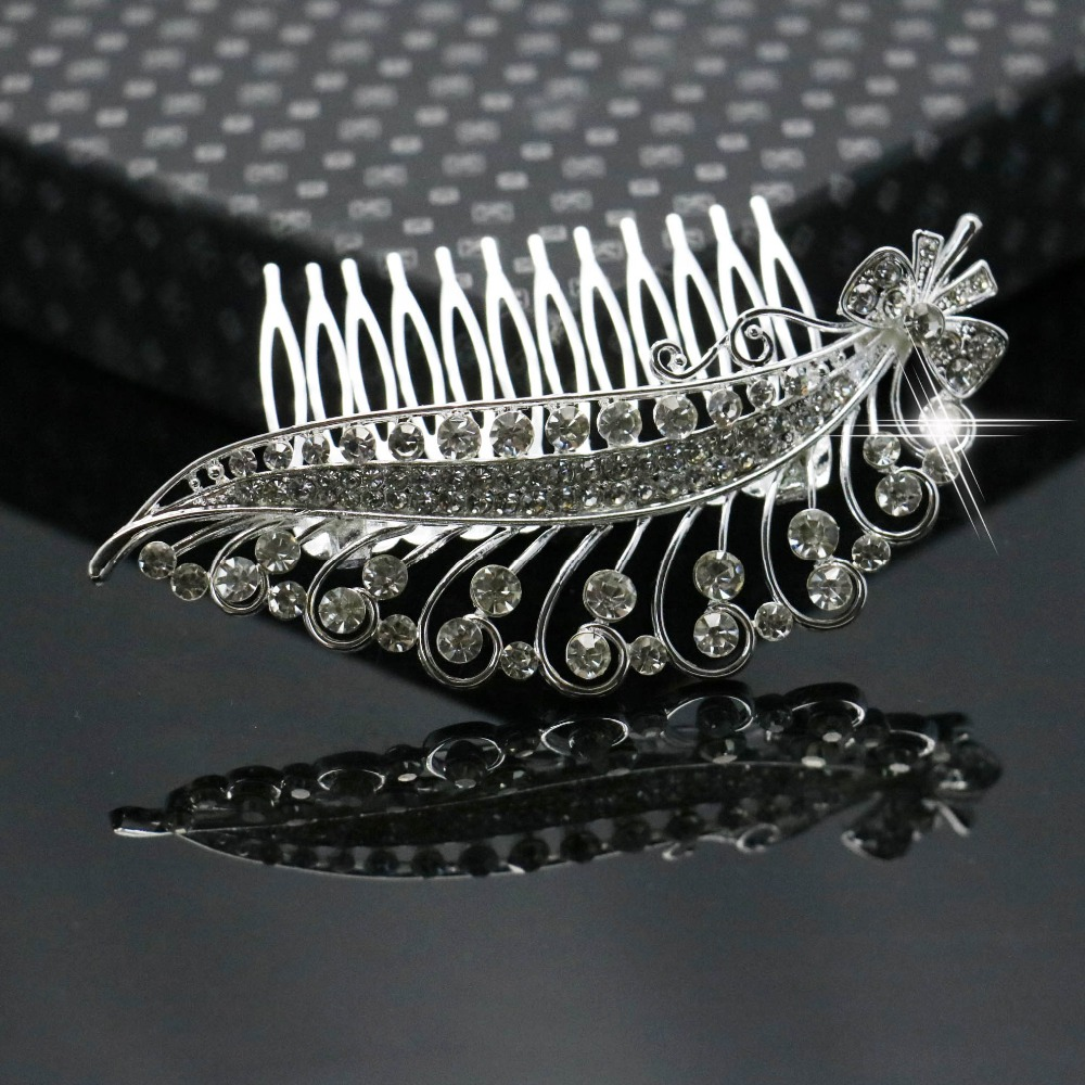 Wholesale Trendy Hairwear Wedding Hair Accessories Bride Bridal Floral Hair Comb Hair Jewelry Rhinestone Crystals Hair Comb(China (Mainland))