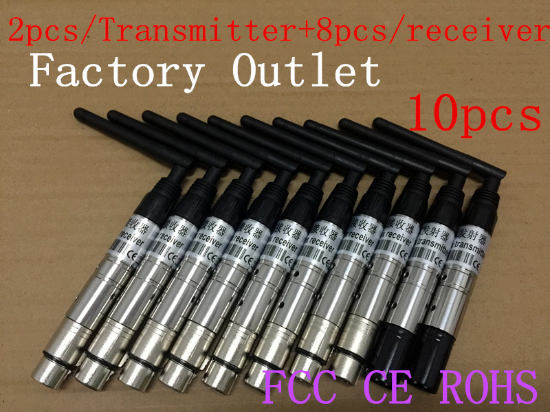 wireless dmx transmitter wireless dmx512 transmitter wireless dmx par head light 10PCS new(China (Mainland))