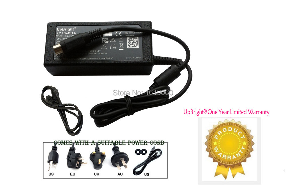 UpBright NEW Global 4-Pin DIN AC / DC Adapter For Viewsonic VX2000 LCD Monitor Power Supply Cord Cable PS Charger Mains PSU(China (Mainland))