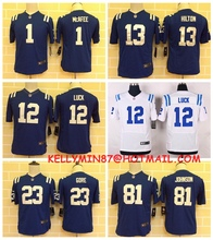 100% Stitiched,indianapolis colts ,Andrew Luck,Reggie Wayne,for youth,kids,camouflage(China (Mainland))