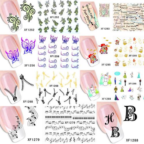 Наклейки для ногтей New Brand 60sheets DIY #xf1241/xf1298 XF1241-XF1298 наклейки для ногтей 5 3d xf1241