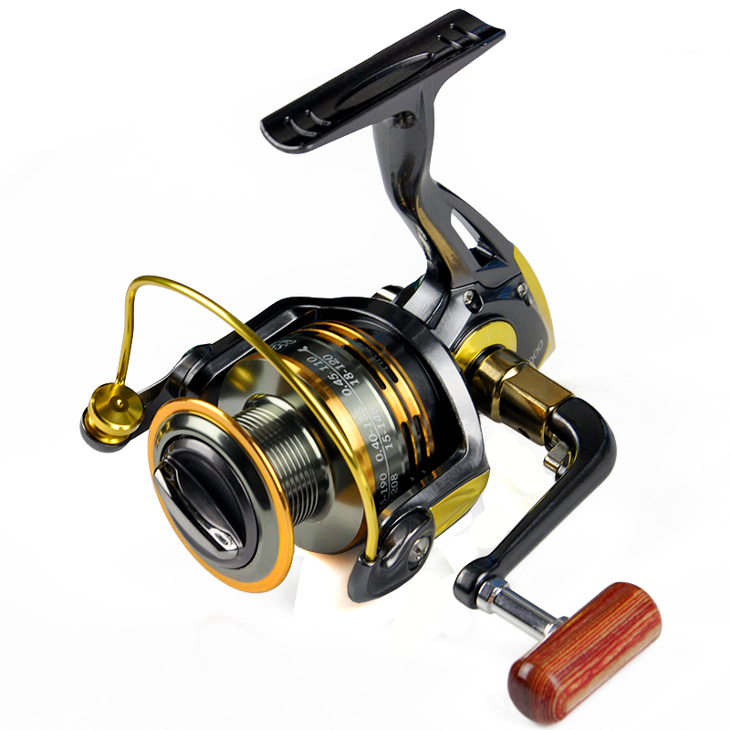 Top Level Spinning Fising Reel 1000-7000 10+1BB Metal Coil Rubber or Wooden Knob Metal Folding Handle Feeder carretilha pesca(China (Mainland))