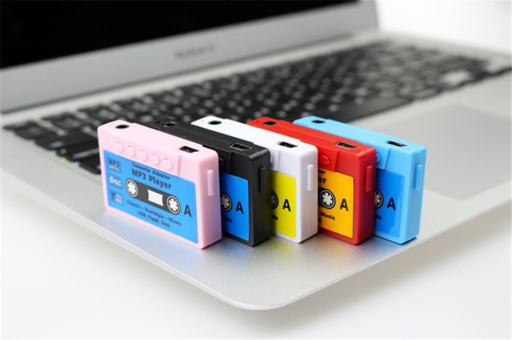 FineFun New 2016 Beautiful Gift 100% USB Magnetic Tape MP3 Player Support Micro 8G SD TF Card MINI No Screen MP3 Free Shipping