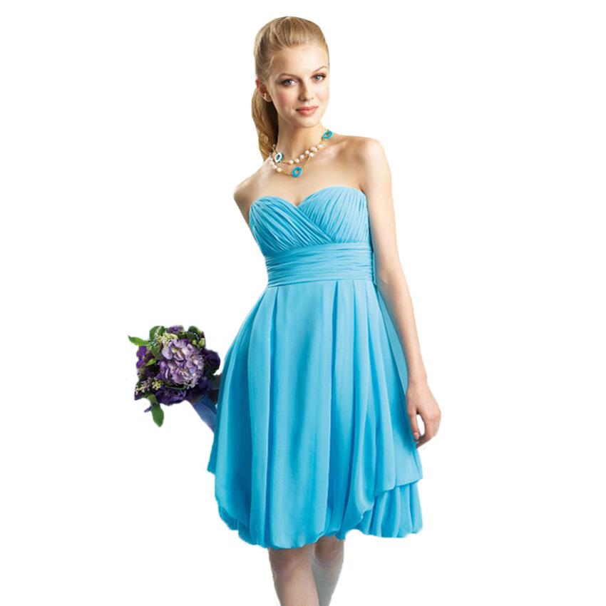 Cheap short turquoise bridesmaid dresses